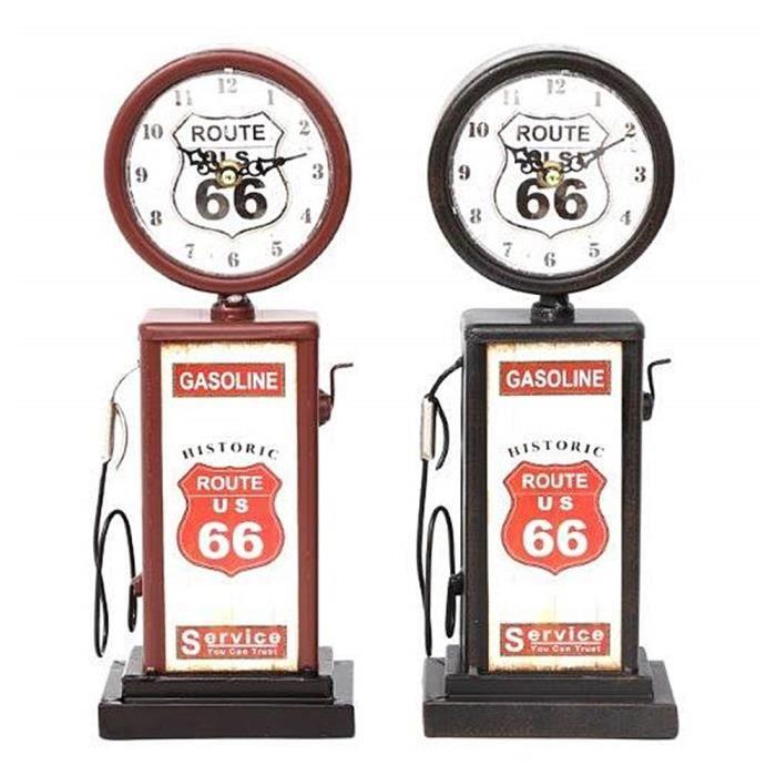 Horloge pompe à essence rétro route 66