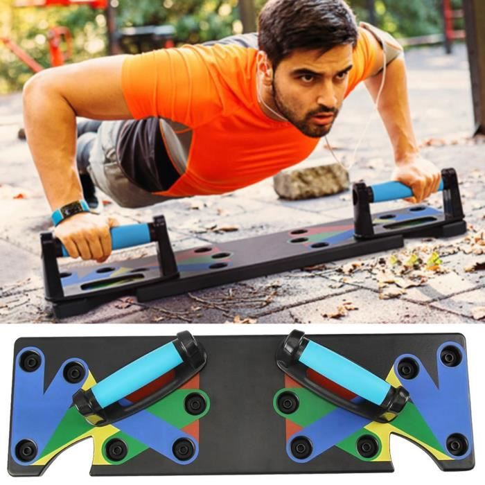 BORLAI® 9 en 1 Body Building Push Up Rack Board System Fitness Workout Gym Push Up Stand Muscle Training Exercise Tool