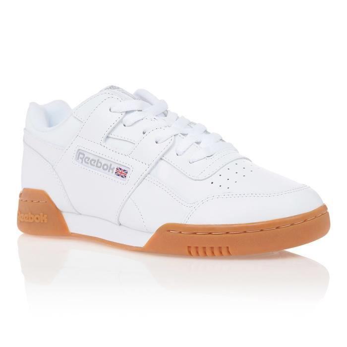 REEBOK Baskets Workout Plus Blanc Mixte