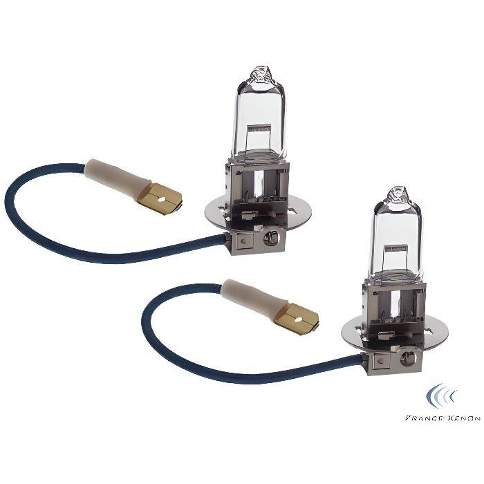2 x Ampoules H3 100W 12V ORIGINE - FRANCE-XENON