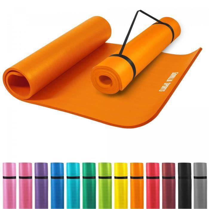 Tapis en mousse grand -190x100x1,5cm (Yoga - Pilates - sport à domicile) ORANGE