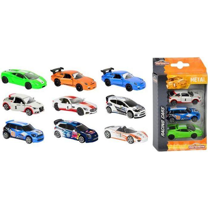 Voitures Majorette Premium Racing : Set 3 aille Unique Coloris Unique