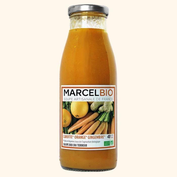 Soupe bio carotte orange gingembre 48cl Marcel Bio