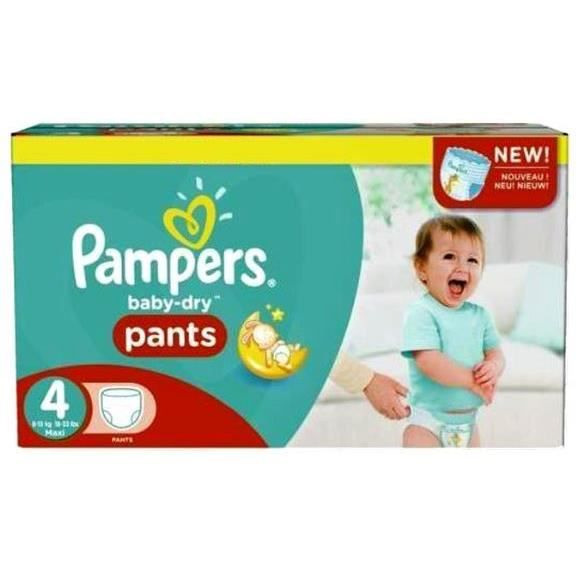 Pampers - 656 couches bébé Taille 4 baby dry pants