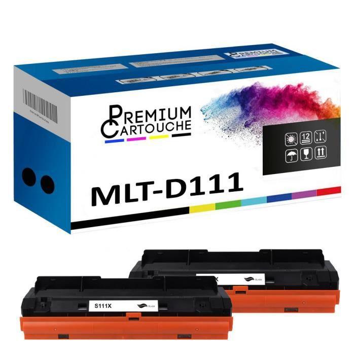 Toner MLT-D111L Noir X2 Compatible pour Samsung Xpress M 2020 Xpress M 2020 W Xpress M 2021 Xpress M 2021 W Xpress M 2022 Xpress M 2