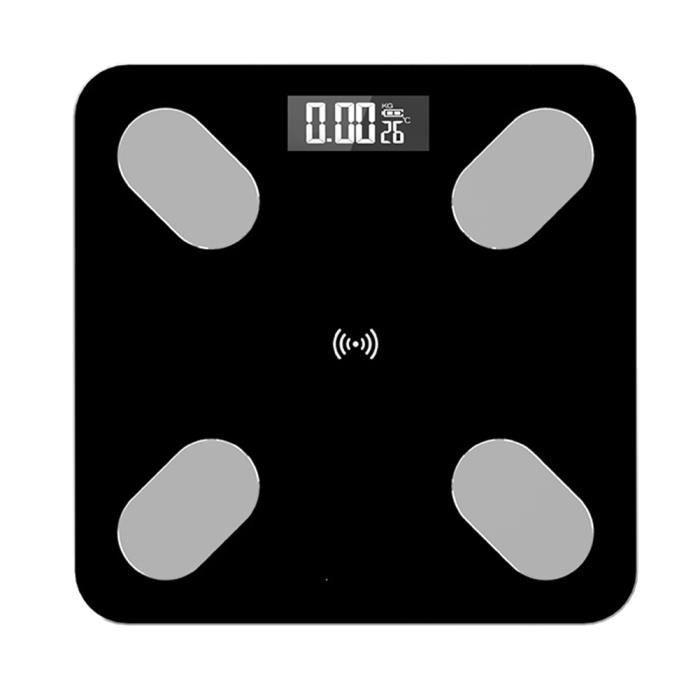 Échelle de graisse corporelle intelligente , Balance Connectée avec 5 Données Corporelles (BMI/Muscle/Eau/poids/Graisse Corporelle)