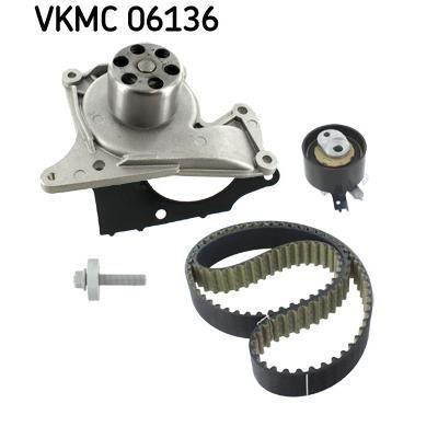 SKF Kit distribution + Pompe à eau VKMC 06136