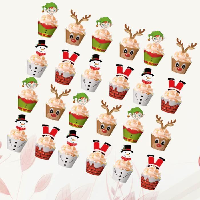 120 Pièces Gâteau Emballages de Petit Accessoires Picks Set Décoration pour la Fête D'anniversaire De Noël GATEAU PATISSIER