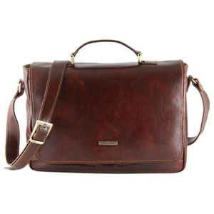 Tuscany Leather - Serviette cuir - Marron - Homme