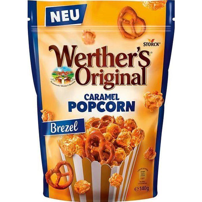 Werthers Original Caramel Popcorn Brezel 140g (Pack de 6)
