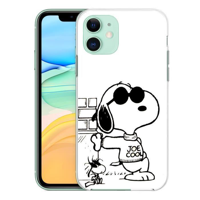 Coque pour iPhone 11 Snoopy Noir Blanc - Cdiscount Téléphonie
