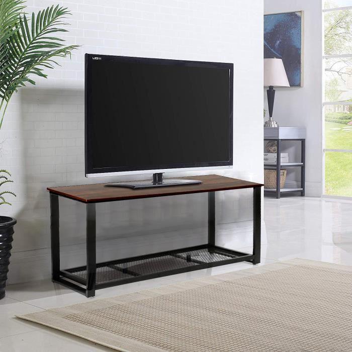 Niveaux Table Style basse Avec 2 de industriel Rangement Nn0wv8Om