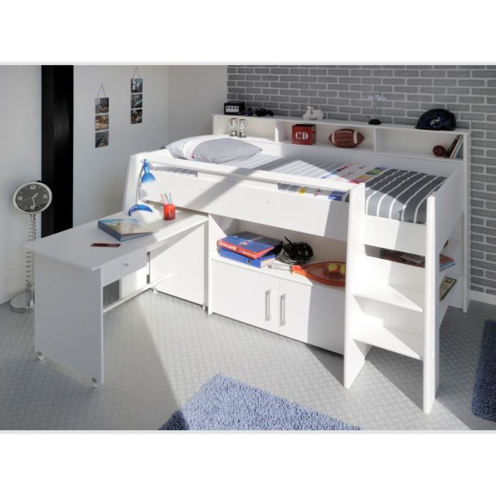 combin lit swan achat vente lit combine combin lit swan panneaux de particules cdiscount. Black Bedroom Furniture Sets. Home Design Ideas