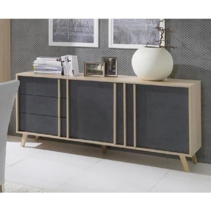 price factory buffet enfilade bahut moyen mod le malmo. Black Bedroom Furniture Sets. Home Design Ideas