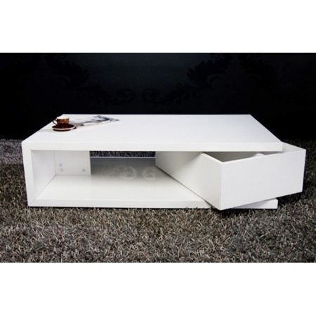 Table basse design smart blanc laqu achat vente table - Table basse rectangulaire design ...
