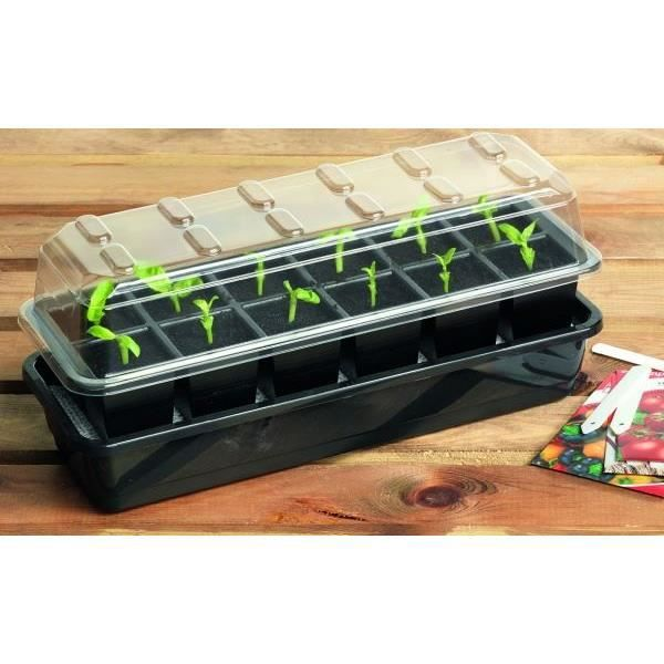 kit mini serre 12 cellules arrosage automatique germination jardinage achat vente serre de. Black Bedroom Furniture Sets. Home Design Ideas
