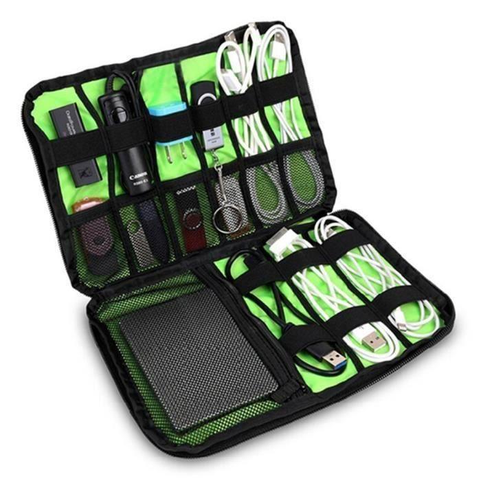 CACHE PRISES - CÂBLES Cable Organizer Portable Voyage Electronics Access