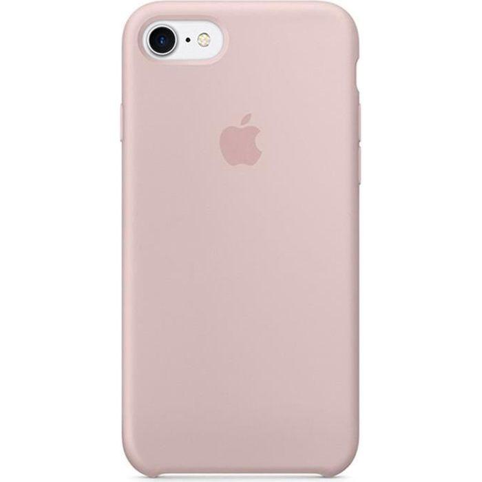 apple coque en silicone iphone 7 8 4 7 rose