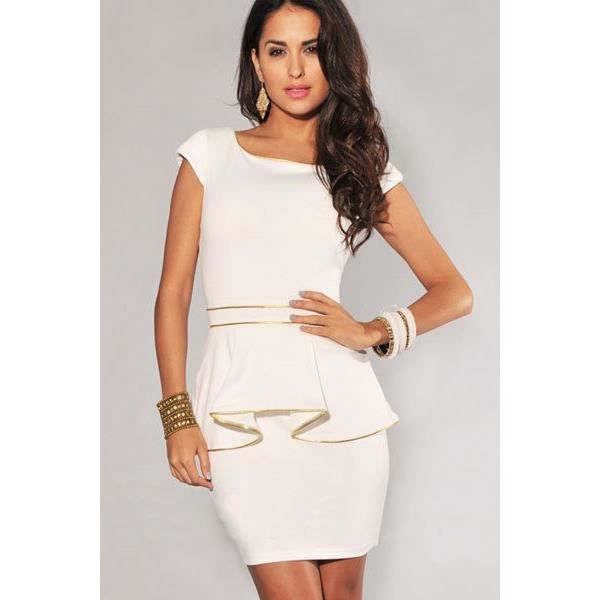 Robe blanche tailleur