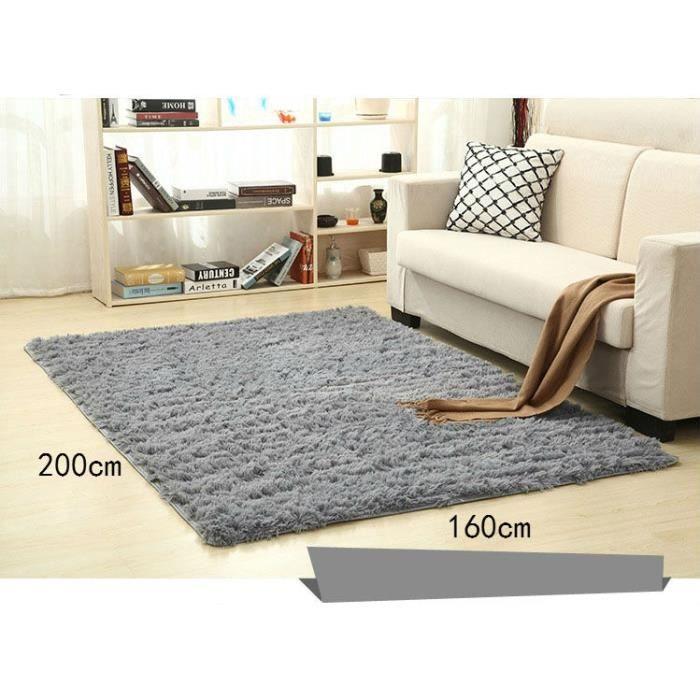 gris 160 200cm tapis chambre enfant tapis salon du sol maison decoration confortable shaggy moquette velours yoga anti derapage