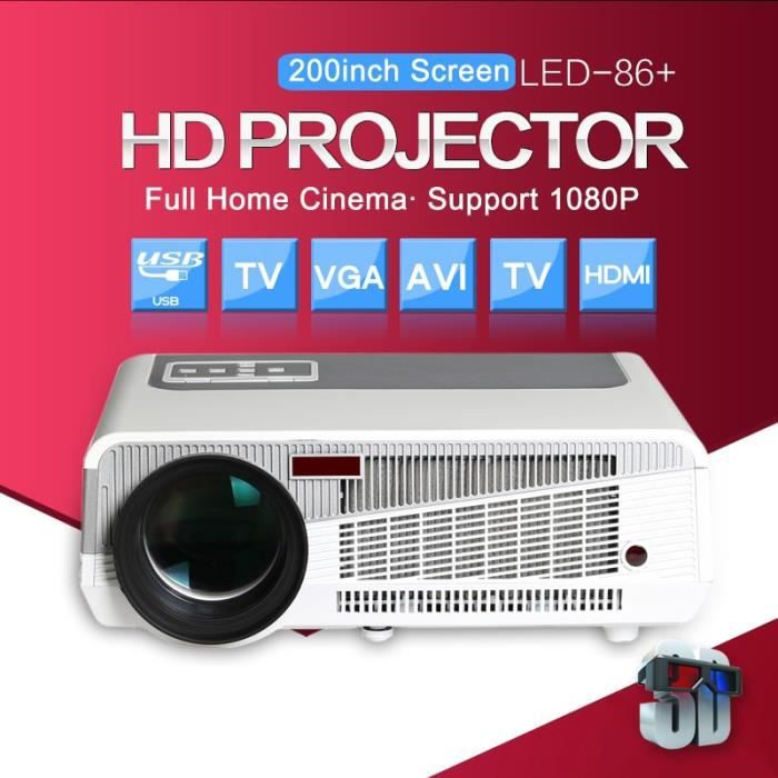 4K FHD 1080P Home Theater LED Android6.0 Wifi Wireless Projector BT HDMI USB 8GB
