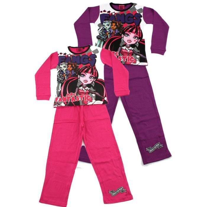 monster high pyjama fantastic rose 12 ans rose achat. Black Bedroom Furniture Sets. Home Design Ideas