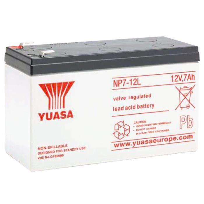 Batterie plomb étanche YUASA NP7-12L 12V 7AH