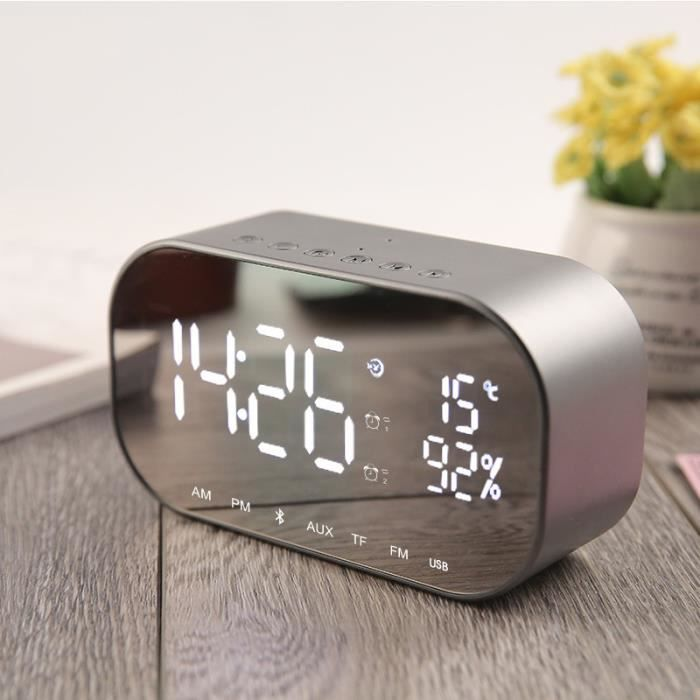 Radio réveil Haut-parleur et réveil Bluetooth Bureau Thermomètr