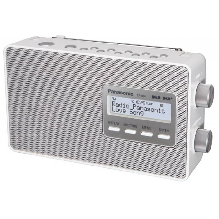 RADIO CD CASSETTE Radio PANASONIC - RFD 10 EGW • Radio • Petit Audio