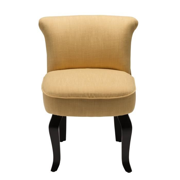fauteuil crapaud lin moutarde achat vente fauteuil jaune cdiscount. Black Bedroom Furniture Sets. Home Design Ideas