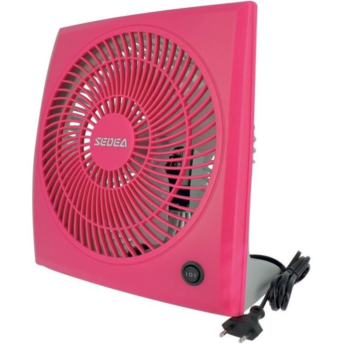 VENTILATEUR SEDEA Ventilateur de table 23 cm - Rose