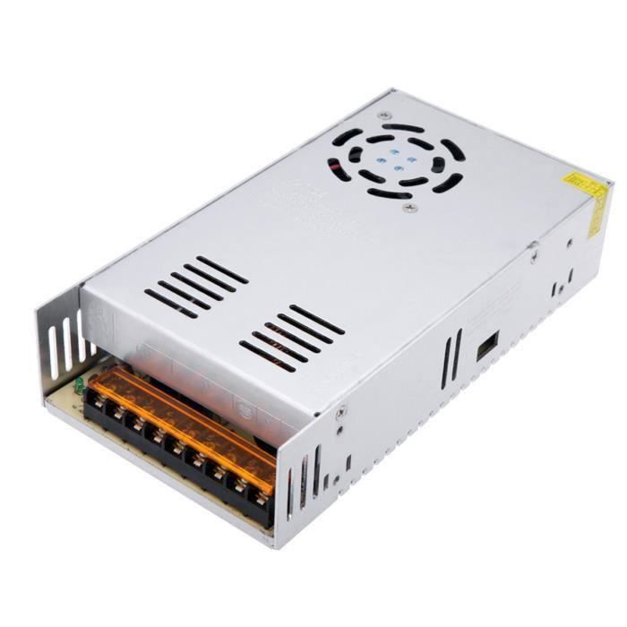 DC 12V Alimentation 400W Power Supply Transformateur Adaptateur pour LED Light 33A