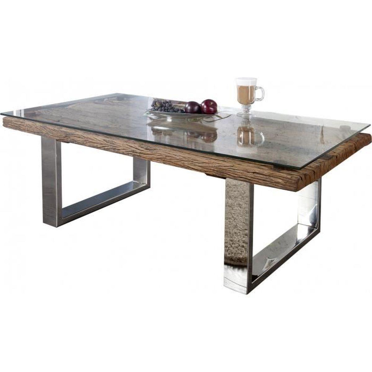 Plateau En Verre Trempe Design Transparent 110x60 Cm Pour Table De
