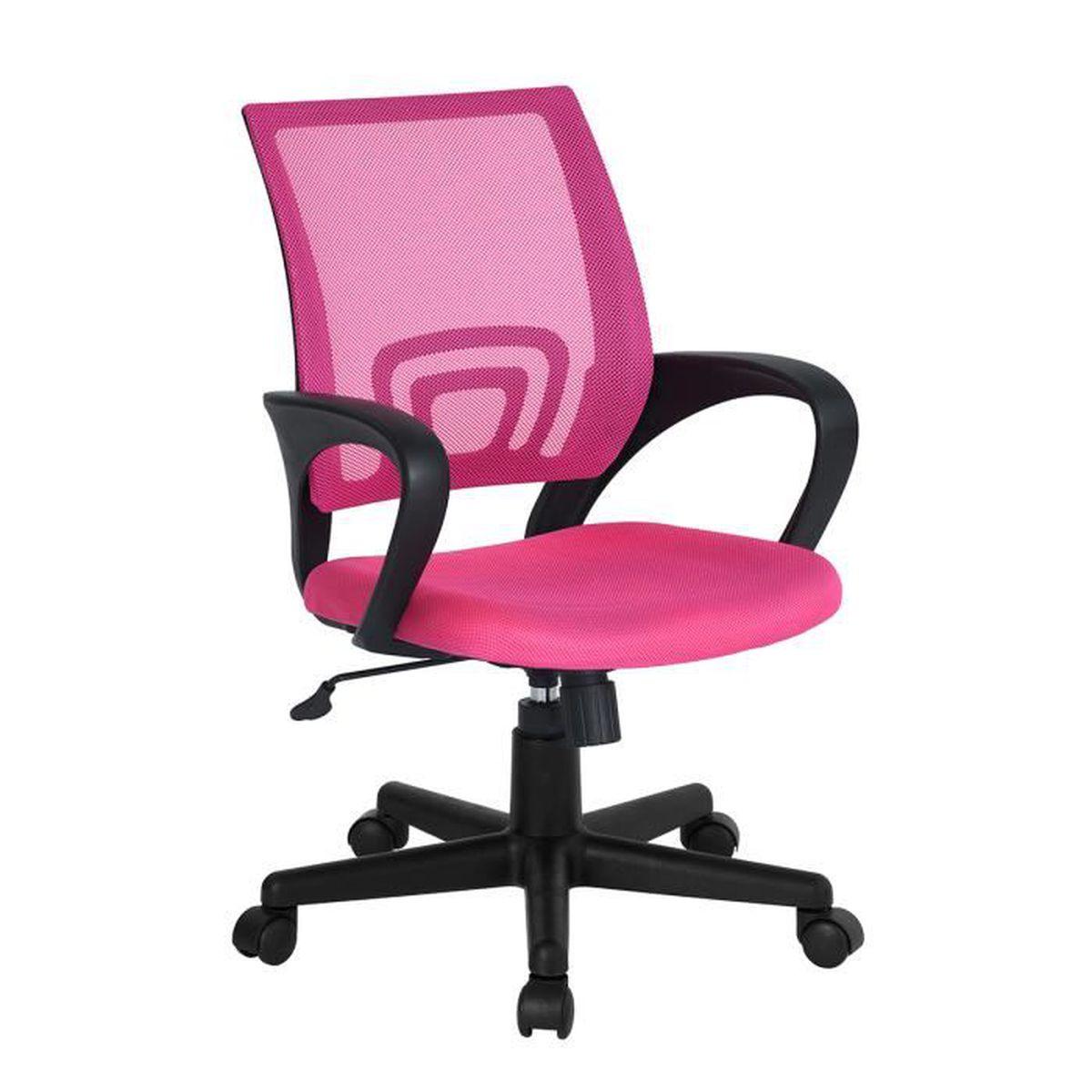 Chaise De Bureau Rose Avec Accoudoir