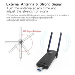 CLE WIFI - 3G 1200 Mbps Dual Band 2,4 - 5 GHz Adaptateur réseau