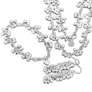 Fashion 925 Sterling Argent Massif Bijoux Ripple Boucles d/'oreilles Créoles Pour Femmes E728