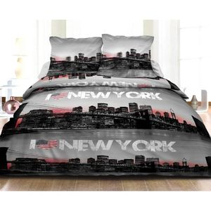 housse de couette new york 2 personnes achat vente housse de couette new york 2 personnes. Black Bedroom Furniture Sets. Home Design Ideas