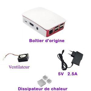 CARTE MÈRE Super 4-en-1 Kit Raspberry Pi 3 Model B boîtier bl
