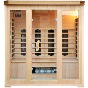 KIT SAUNA  Sauna Infrarouge Luxe 4/5 personnes - Chromothérap