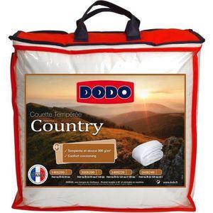 COUETTE DODO Couette tempérée Country - 200 x 200 cm - Bla