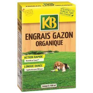 ENGRAIS KB Engrais gazon organique Bio - 100 m²