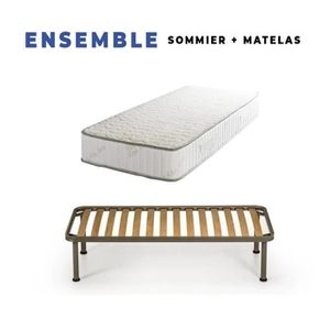 MATELAS Matelas 200x200 + Sommier Démonté + pieds Offerts