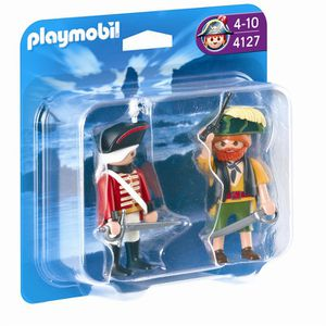 UNIVERS MINIATURE PLAYMOBIL 4127 Duo Pirate et Soldat Anglais