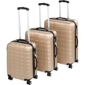 SET DE VALISES TECTAKE Set de 3 valises Mixte Trolley 402674 - Ri