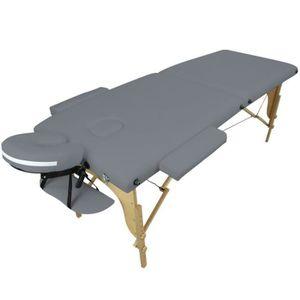 Table de massage Table de massage pliante 2 zones en bois avec pann