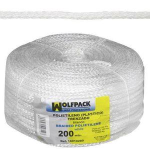 BOITE A OUTILS Corde tressée en plastique blanche (bobine 200 m