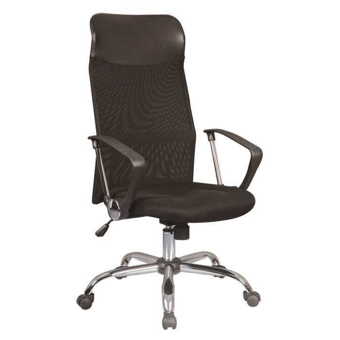 CHAISE MEETING Chaise de bureau Tissu Noir - L 65 x P 65