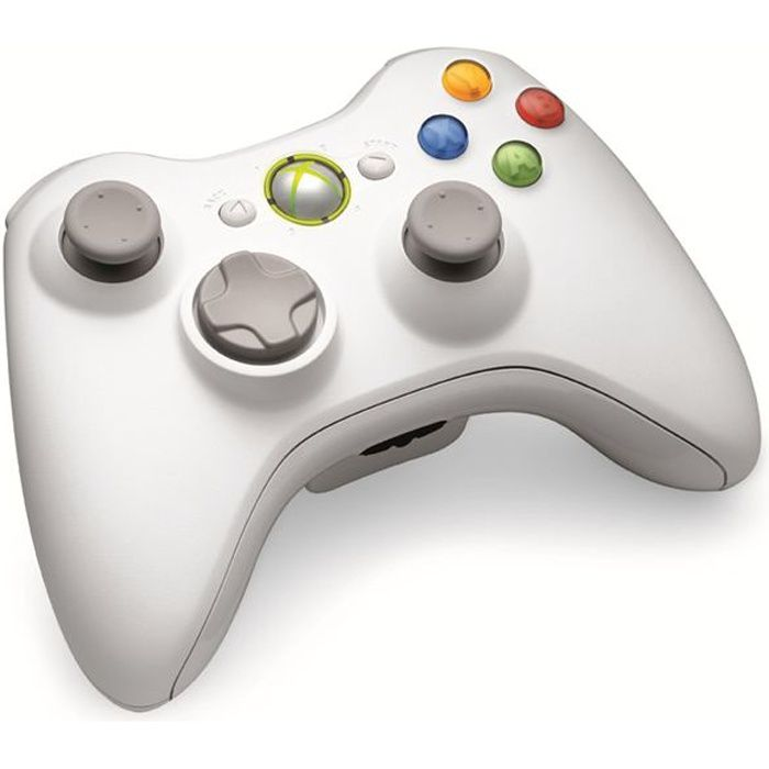 manette sans fil blanche accessoire xbox 360 achat vente manette console manette sans fil. Black Bedroom Furniture Sets. Home Design Ideas