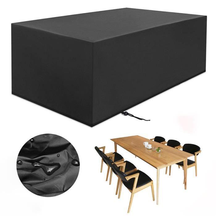 3pcs Housse de Protection Imperméable Bâche Rectangulaire Anti-poussière Anti-UV Couverture de Meubles 270x180x89 cm