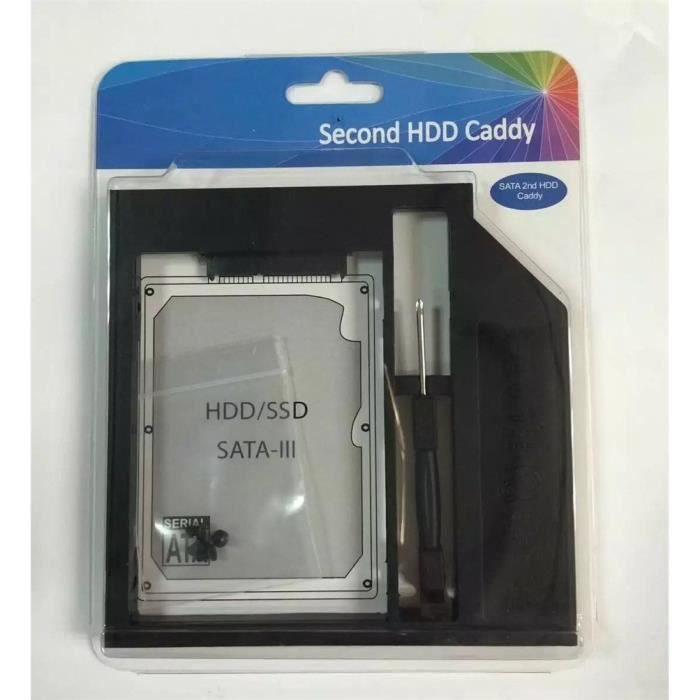 9 mm Sata Hdd Ssd deuxième disque dur Caddy pour Cd Dvd Rom pour ordinateur portable Bay optique _e7217